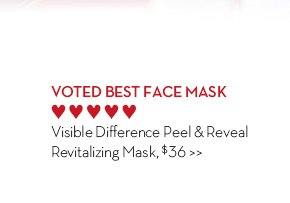 4. VOTED BEST FACE MASK. Visible Difference Peel & Reveal Revitalizing Mask, $36.