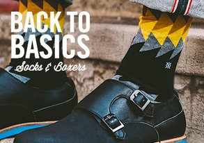 Shop Back to Basics: Socks & Boxers