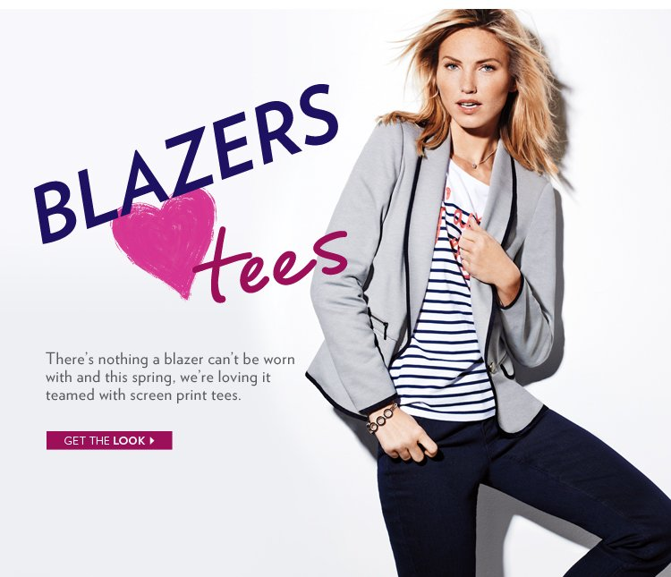 There's nothing a blazer can't be worn with and this spring, we're loving it teamed with screen print tees.