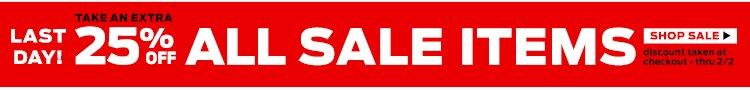25% Shop Sale