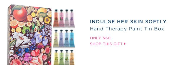 Indulge her skin softly. Hand Therapy Paint Tin Box.