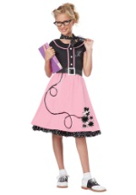 Girls Pink 50's Sweetheart Costume