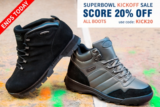 Get 20% OFF ALL BOOTS