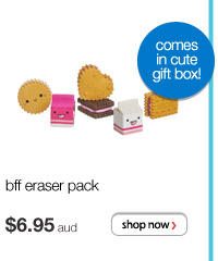 bff eraser pack - $6.95 aud - comes in a cute gift box!