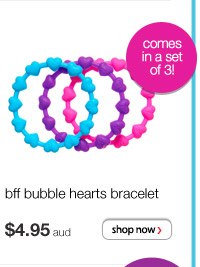 bff bubble hearts bracelet - $4.95 aud - comes in sets of 3!