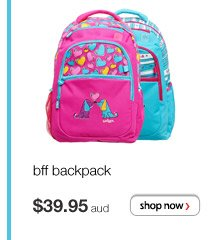 bff backpack - $39.95 aud