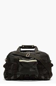 KRISVANASSCHE BLACK padded NYLON convertible DUFFLE bag for men