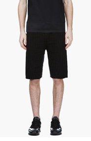 KRISVANASSCHE Black Croc Pattern Knit Shorts for men