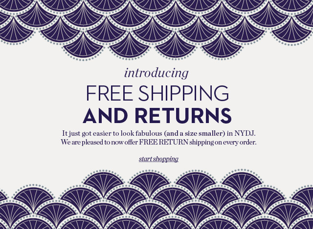 Free Shipping And Returns - Start Shopping