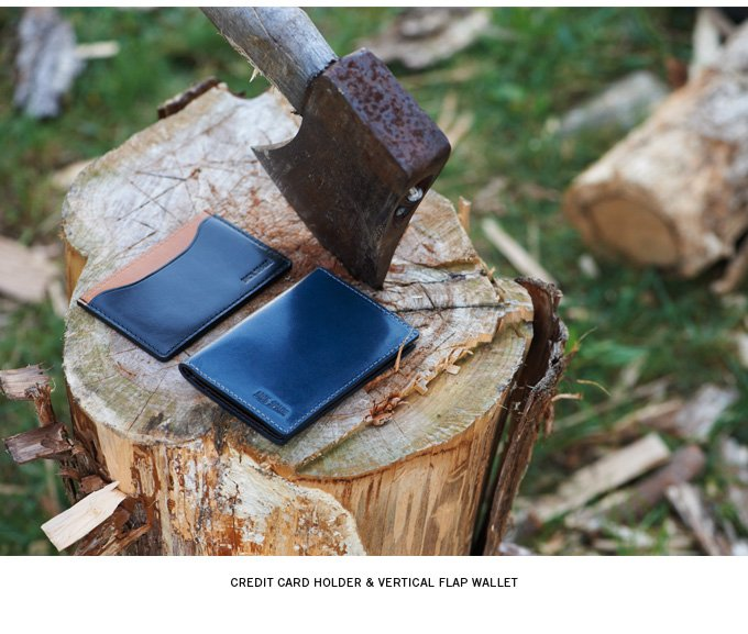 credit card holder and vertical flap wallet.