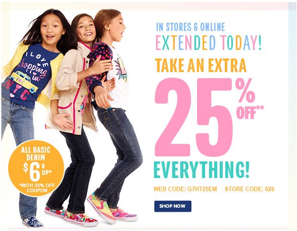 Take An Extra 25% Off Everything! - Extended Today