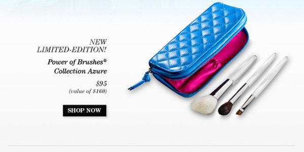 Trish McEvoy's New! Limited-Edition Power of Brushes® Collection Azure