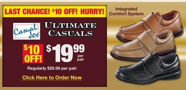 Last Chance $10 OFF Ultimate Casuals