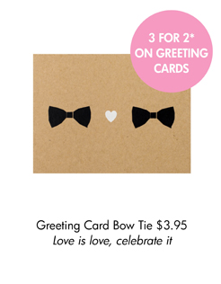 Greeting Card Bow Tie