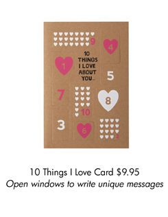 10 Things I Love Card