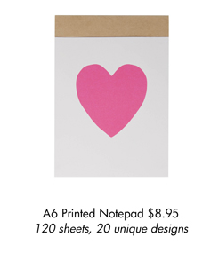 A6 Printed Notepad