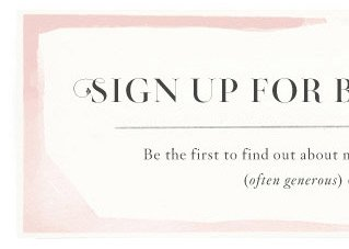 Sign up for BHLDN emails.