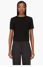 T BY ALEXANDER WANG Black V-Back Suiting Blouse for women