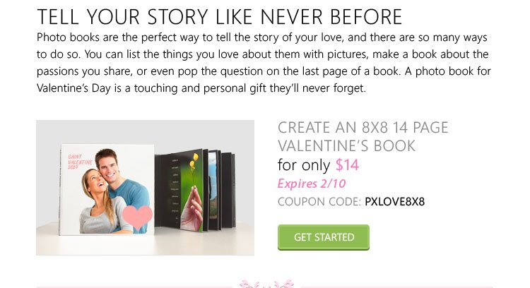 Custom Valentines Day Photo Book