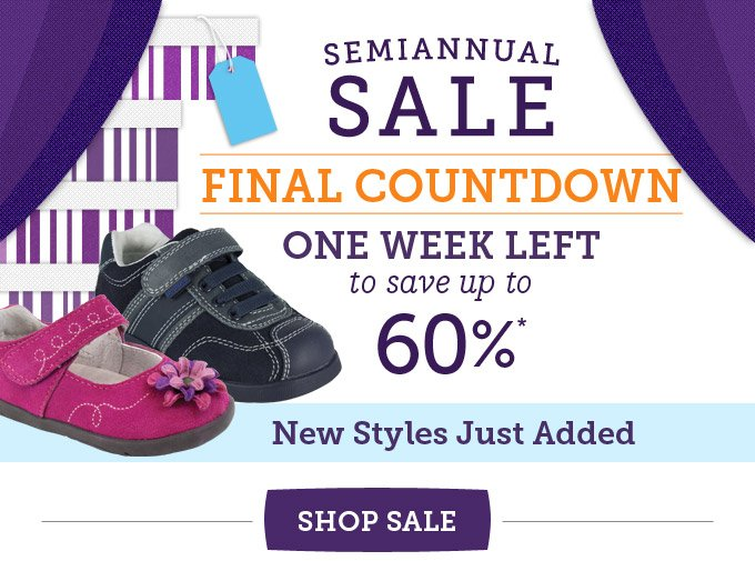 Semiannual Sale final countdown - One week left to save up to 60% - New styles just added
