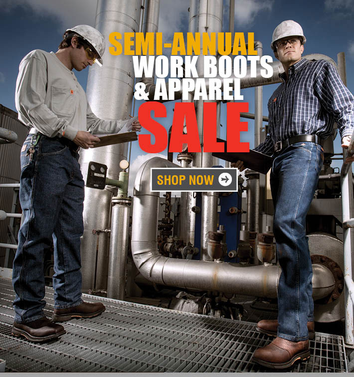 Semi-Annual Work Boots & Apparel Sale
