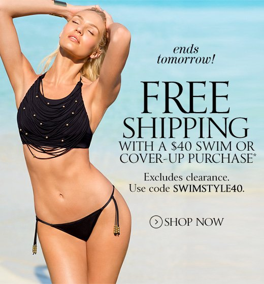 Free Shipping with $40 Swim or Cover-up Purchase