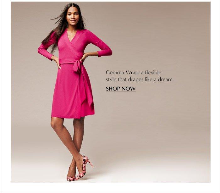 Gemma Wrap: a flexible stlye that drapes like a dream. | SHOP NOW
