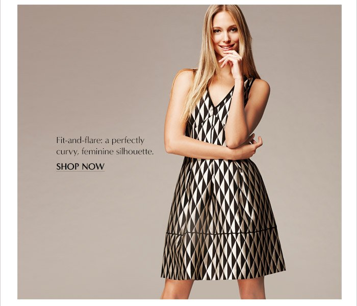 Fit-and-flare: a perfectly curvy, feminine silhouette. | SHOP NOW