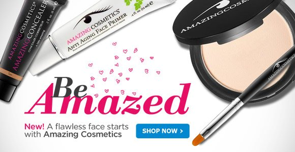 New! A flawless face starts with Amazing Cosmetics
