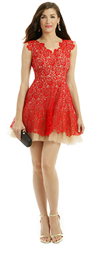 NHA KHANH - Red Lace Dahlia Dress
