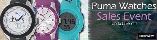 Save up to 55% during the Puma Watches sales event