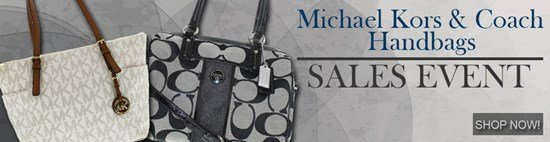 Save up to 49% on Coach and Michel Kors Handbags!