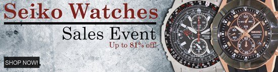 Save up to 81% during the Seiko Watches sales event
