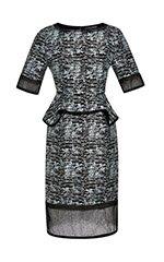 Cracked Jacquard Dress
