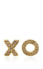 Yellow GOld and Diamond Earrings