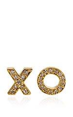Yellow GOld and Diamond Earrings