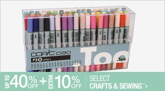 Up to 40% off + Extra 10% off Select Crafts & Sewing**