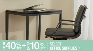 Up to 40% off + Extra 10% off Select Office Supplies**