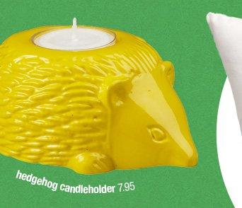 hedgehog candleholder 7.95