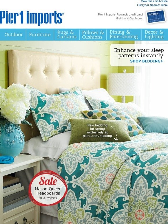 . Pier 1  Our bedding gives  beauty sleep  a whole new meaning    Milled
