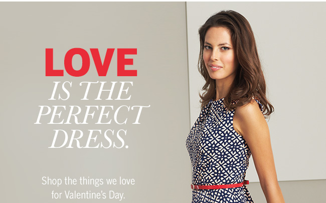LOVE is the perfect dress. Shop the things we love for Valentine's Day.