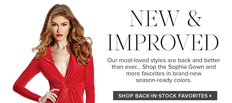 Shop Back-In-Stock Favorties