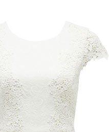 Mia Textured Lace Applique Dress.