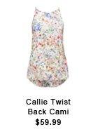Callie Twist Back Cami.