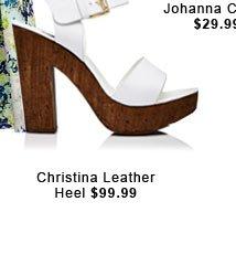 Christina Leather Heel.