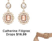 Catherine Filigree Drops.