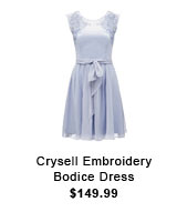 Crysell Embroidery Bodice Dress.