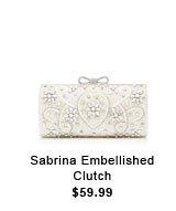 Sabrina Embellished Clutch.