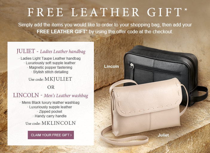 Free leather gift. *Terms apply