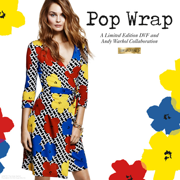 Pop Wrap: A limited edition DVF and Andy Warhol Collaboration. Shop Now.